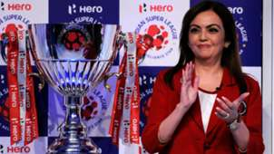 Nita Ambani Indian Super League trophy unveiling ceremony