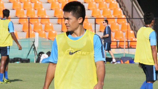 Sunil Chhetri Indian National Team training session