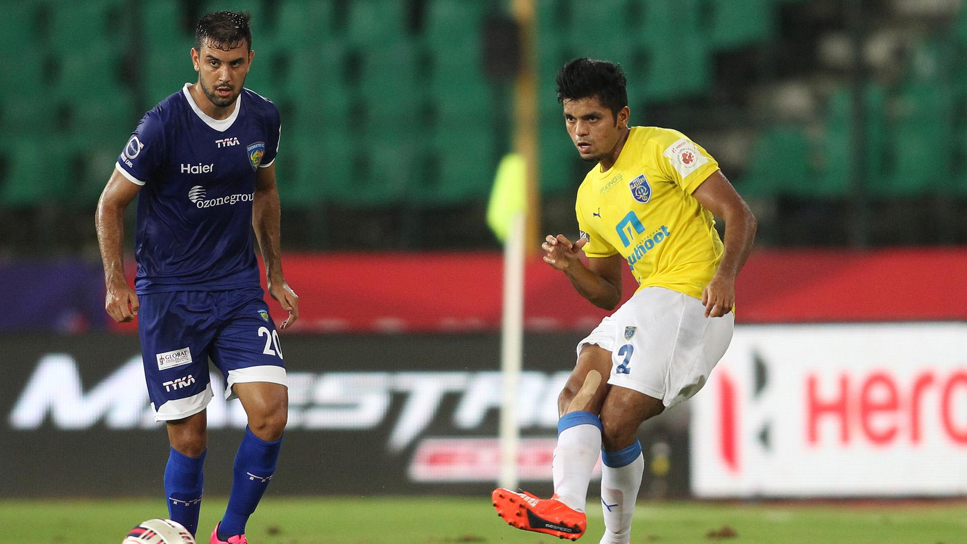 Bruno Pelissari Rahul Shankar Bheke Chennaiyin FC Kerala Blasters FC ISL season 2