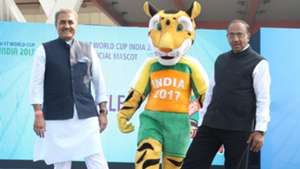 Praful Patel Vijay Goel unveil Official Mascot FIFA U-17 World Cup India 2017