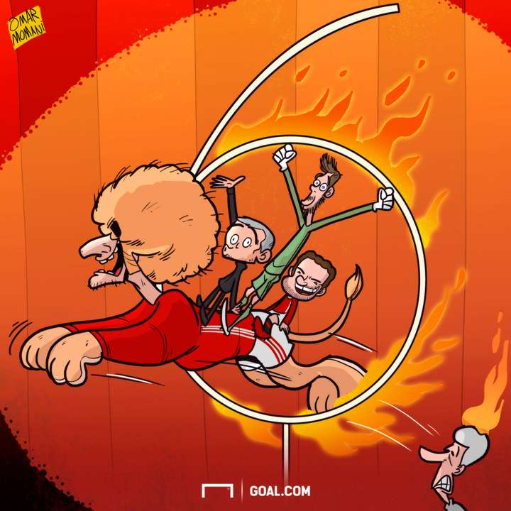 Cartoon Manchester United surpass the 6th place with Fellani