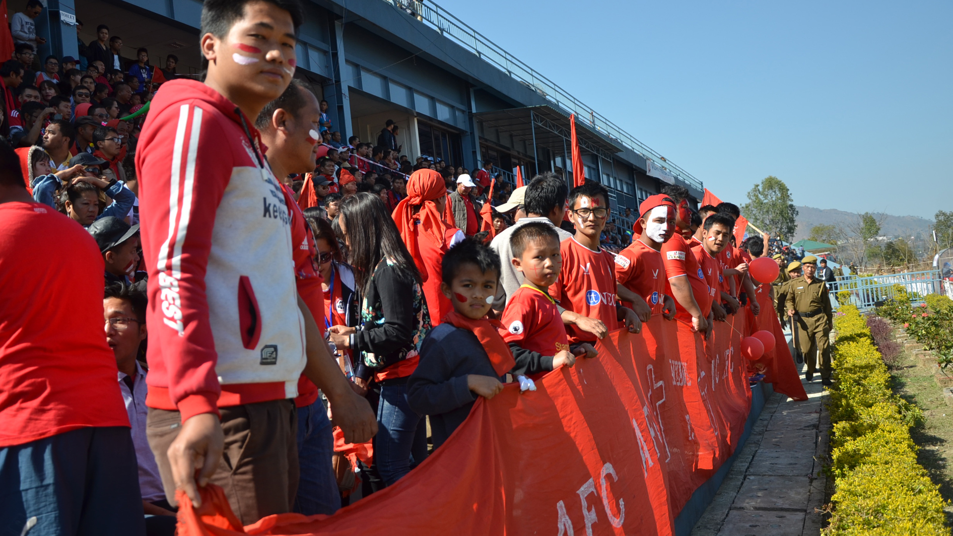 Aizawl FC supporters during match against Chennai City FC I-League 2017