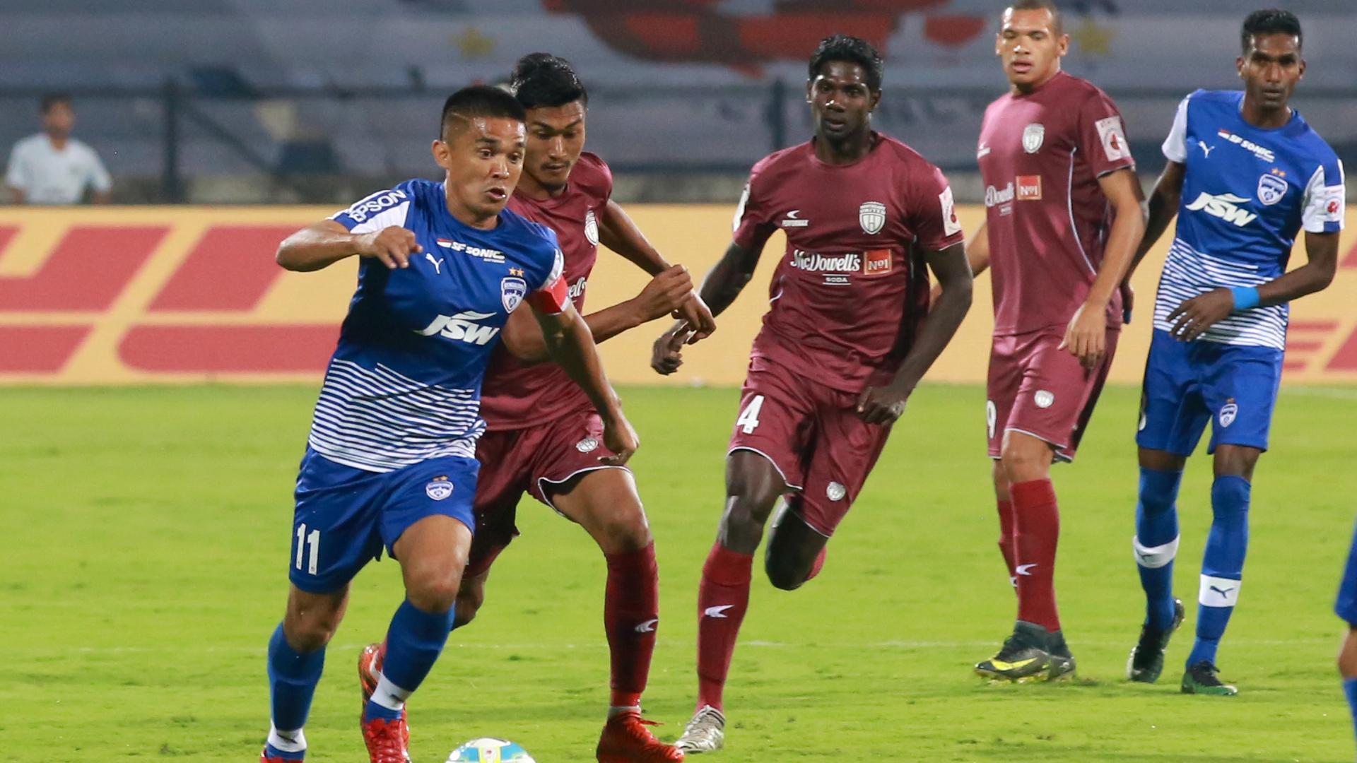 Sunil Chhetri Bengaluru FC NorthEast United FC ISL 4 2017/2018