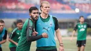 Subhasish Bose Erik Paartalu Bengaluru FC training