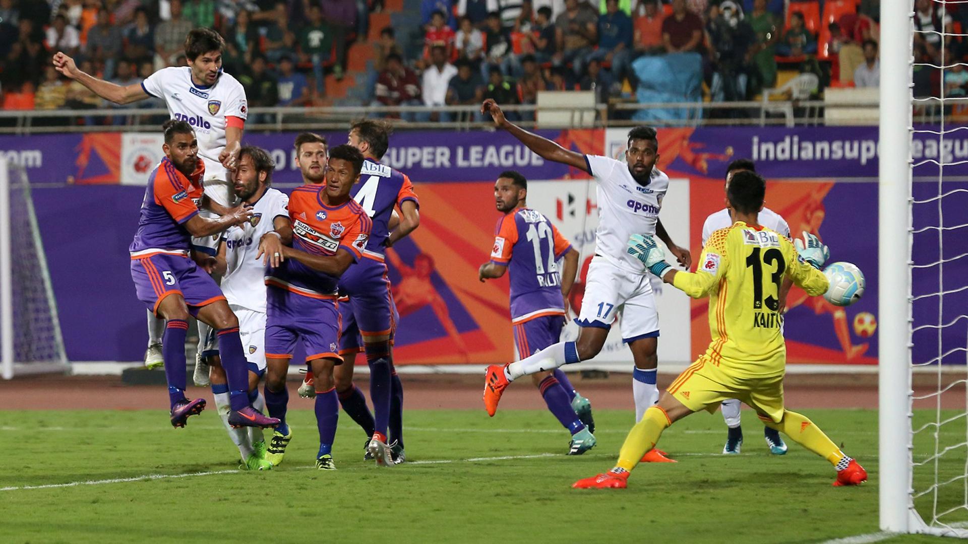 FC Pune City Chennaiyin FC ISL season 4 2017/2018