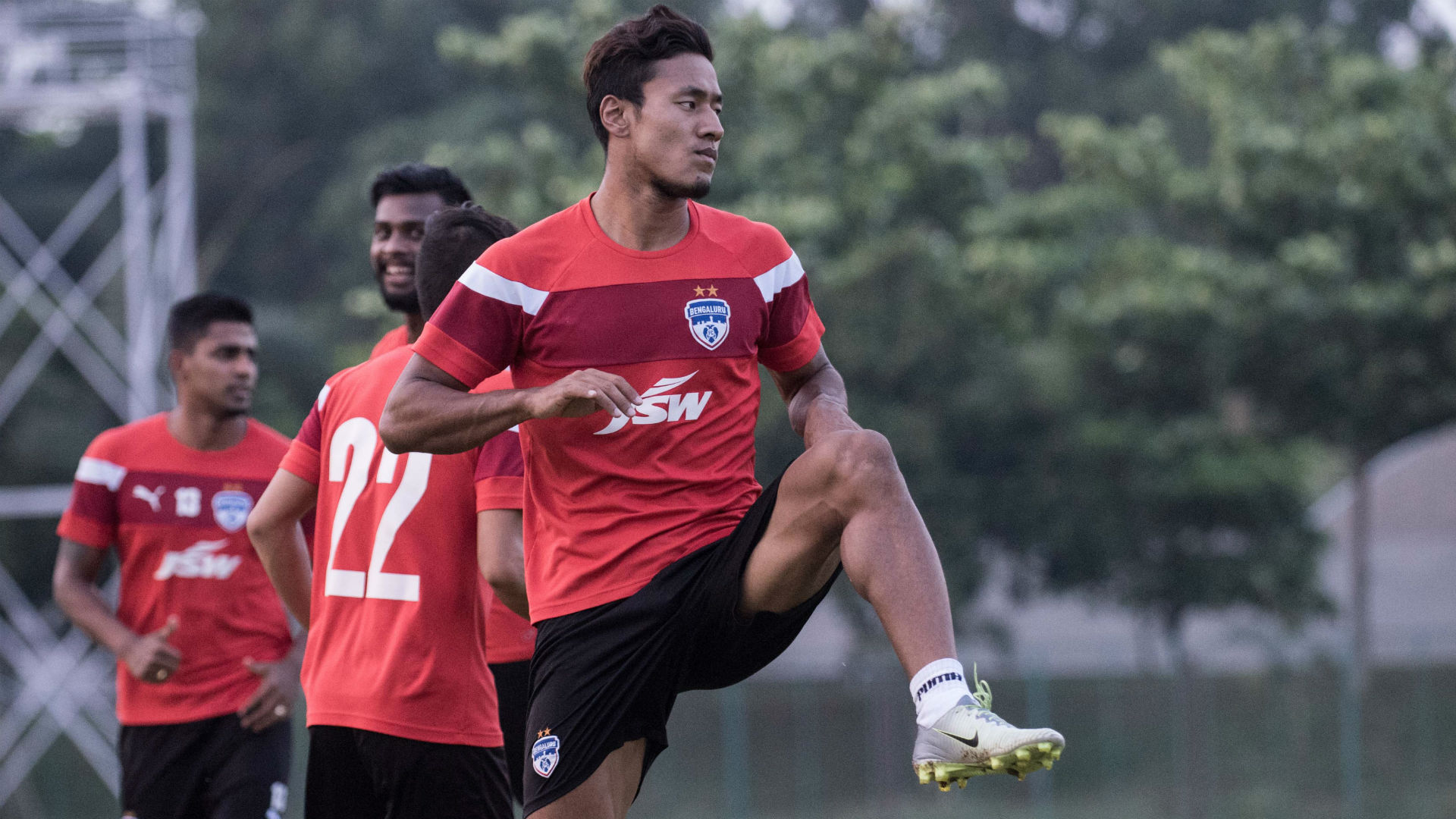 Salam Ranjan Singh Bengaluru FC training session