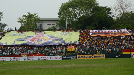 East Bengal FC supporters during East Bengal FC Mohun Bagan I-League match