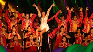 Jacqueline Fernandez performs during ISL Season 3 opening ceremony