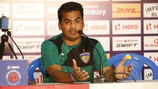 Sabir Pasha Assistant coach of Chennaiyin FC during match against FC Pune City ISL season 3 2016