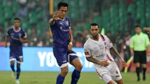 Gouramangi Singh of Chennaiyin FC in action during ISL match against FC Pune City