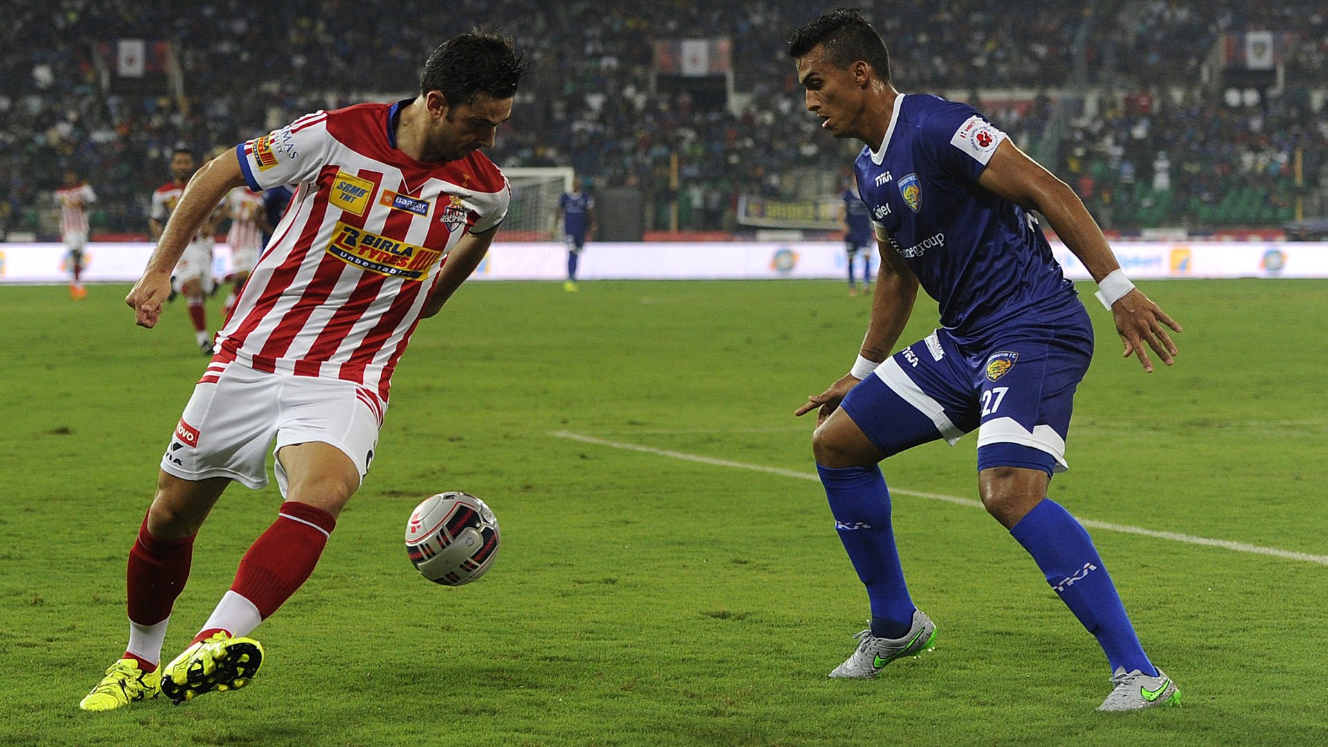 Helder Postiga Mailson Alves Atletico de Kolkata Chennaiyin FC ISL Season 2