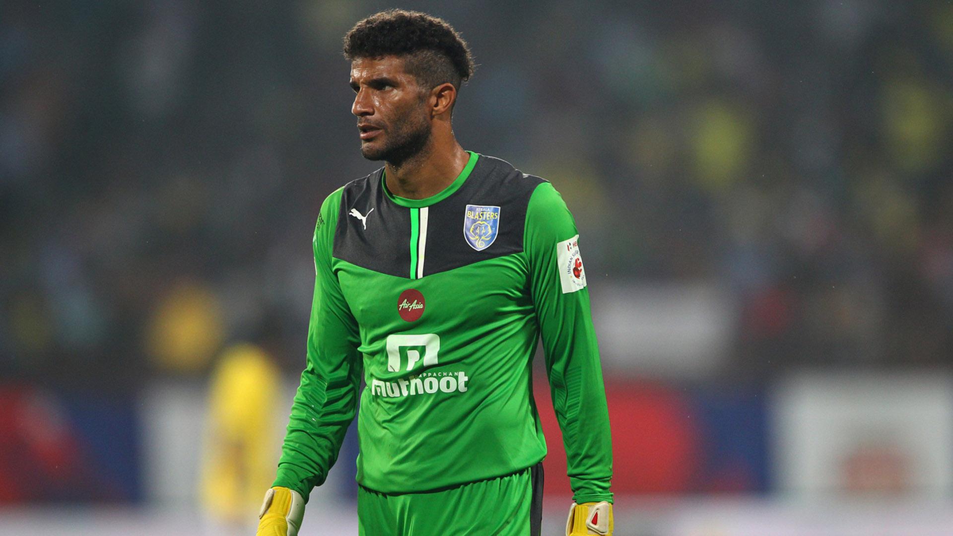 Kerala Blasters FC goalkeeper David James during ISL match