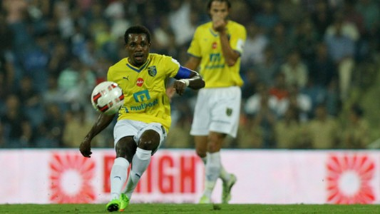 Penn Orji of Kerala Blasters FC in action during ISL match against Mumbai City FC