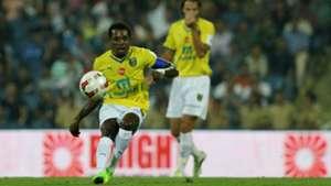 Penn Orji of Kerala Blasters FC in action during ISL match against Mumbai City FC