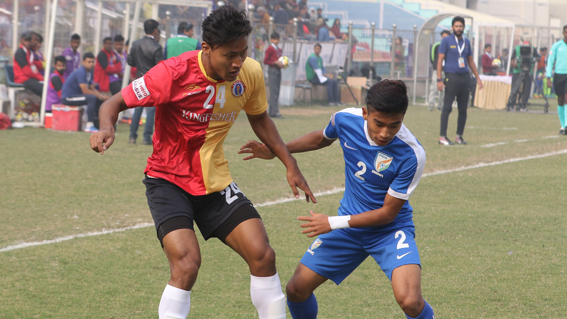 Salam Ranjan Boris Singh Indian Arrows East Bengal I-League 2017/2018