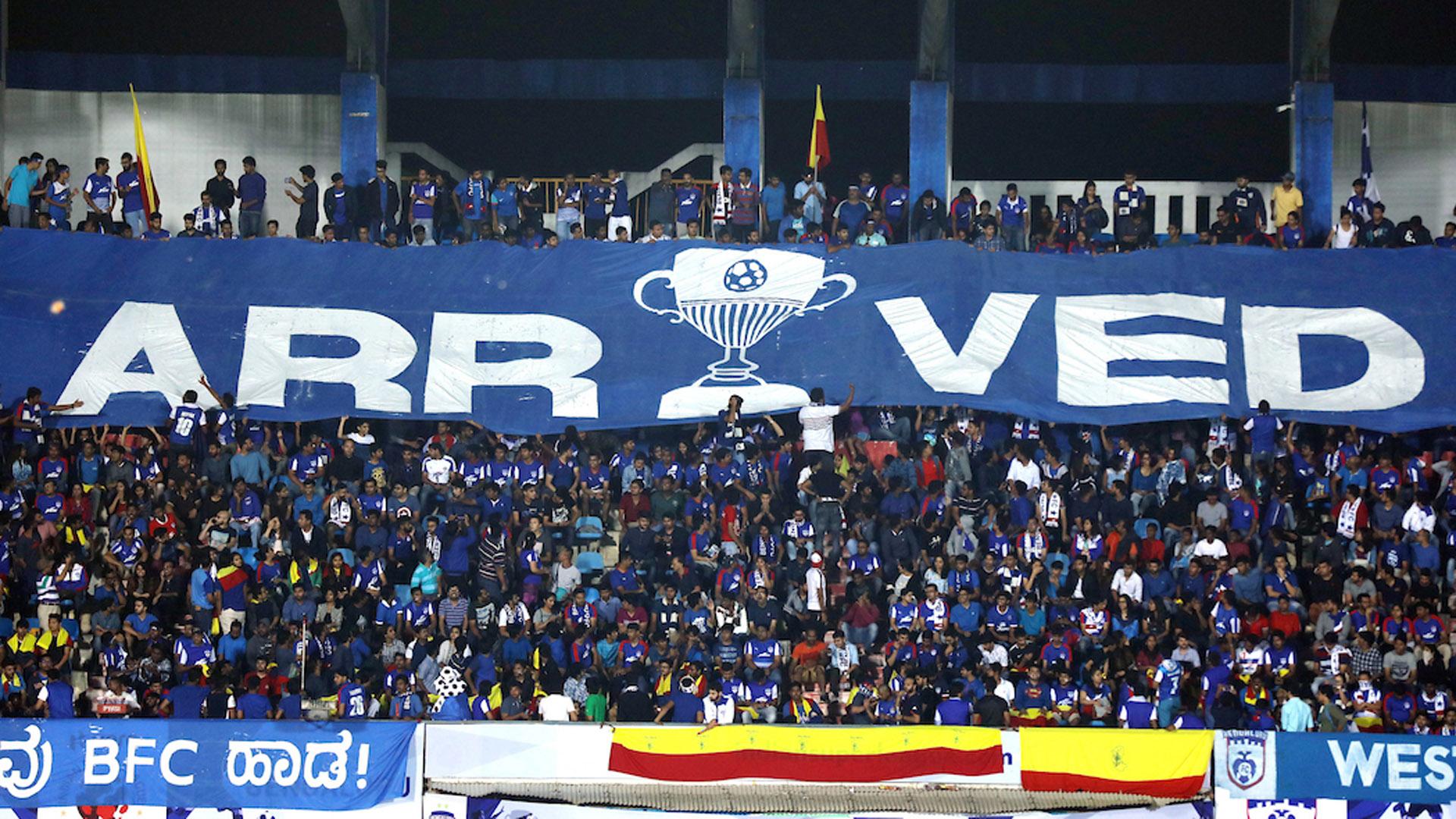 Supporters during Bengaluru FC Mumbai FC ISL season 4 2017/2018