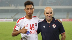 William Lalnunfela Paulo Meneses East Bengal Aizawl FC I-League 2017/2018