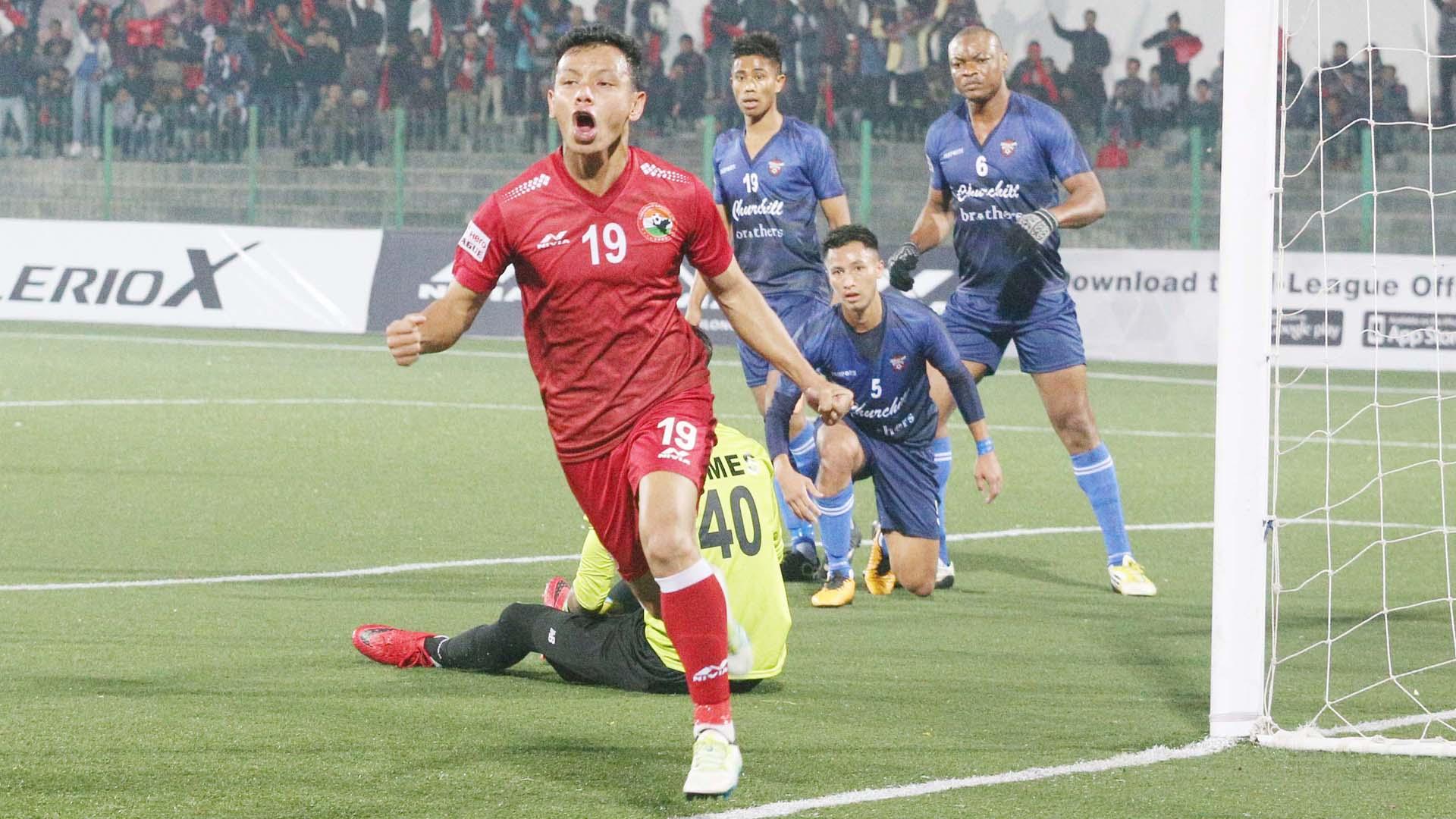 Redeem Tlang Shillong Lajong FC Churchill Brothers SC I-League 2017/2018