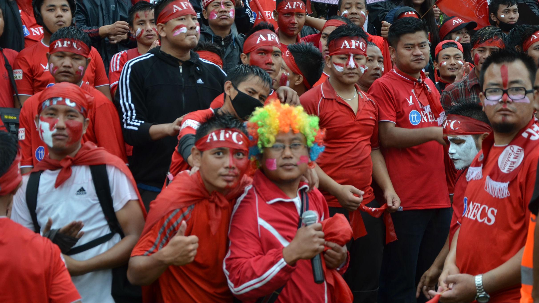 Aizawl FC supporters during Aizawl Mohun Bagan I-League 2017