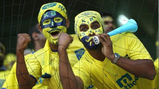 Fans during Kerala Blasters FC Delhi Dynamos FC ISL semi final season 3 2016
