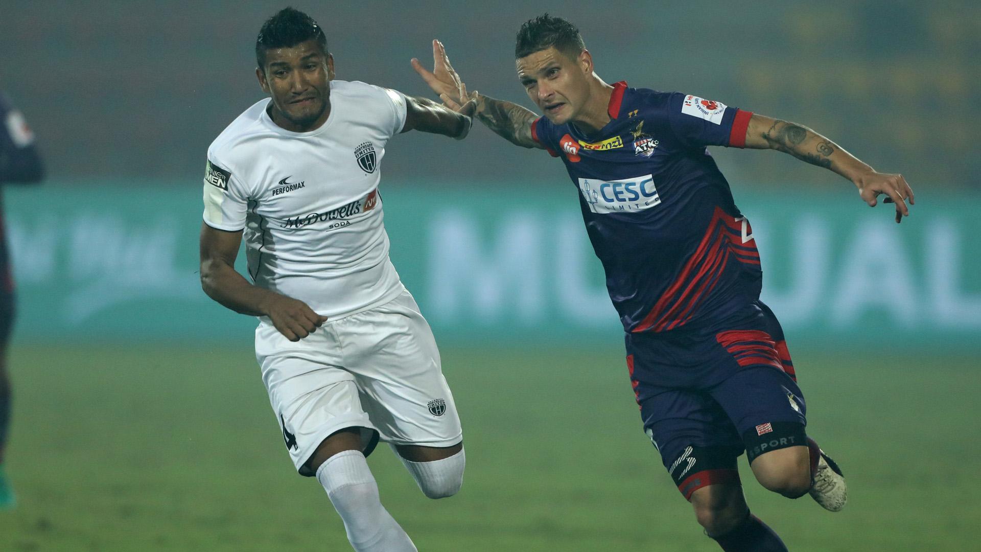 Nirmal Chettri Zequinha NorthEast United FC ATK ISL 4 2017/2018