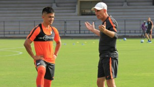 Sunil Chhetri Stephen Constantine Indian National Team training session