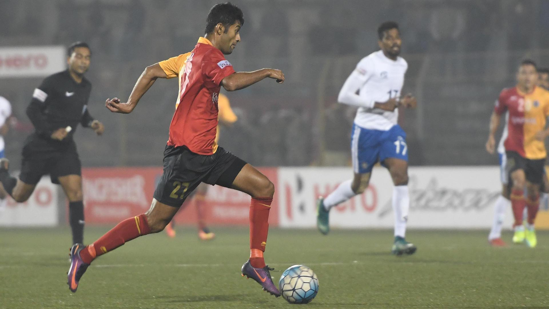 Nikhil Poojari East Bengal Chennai City FC I-League 2017