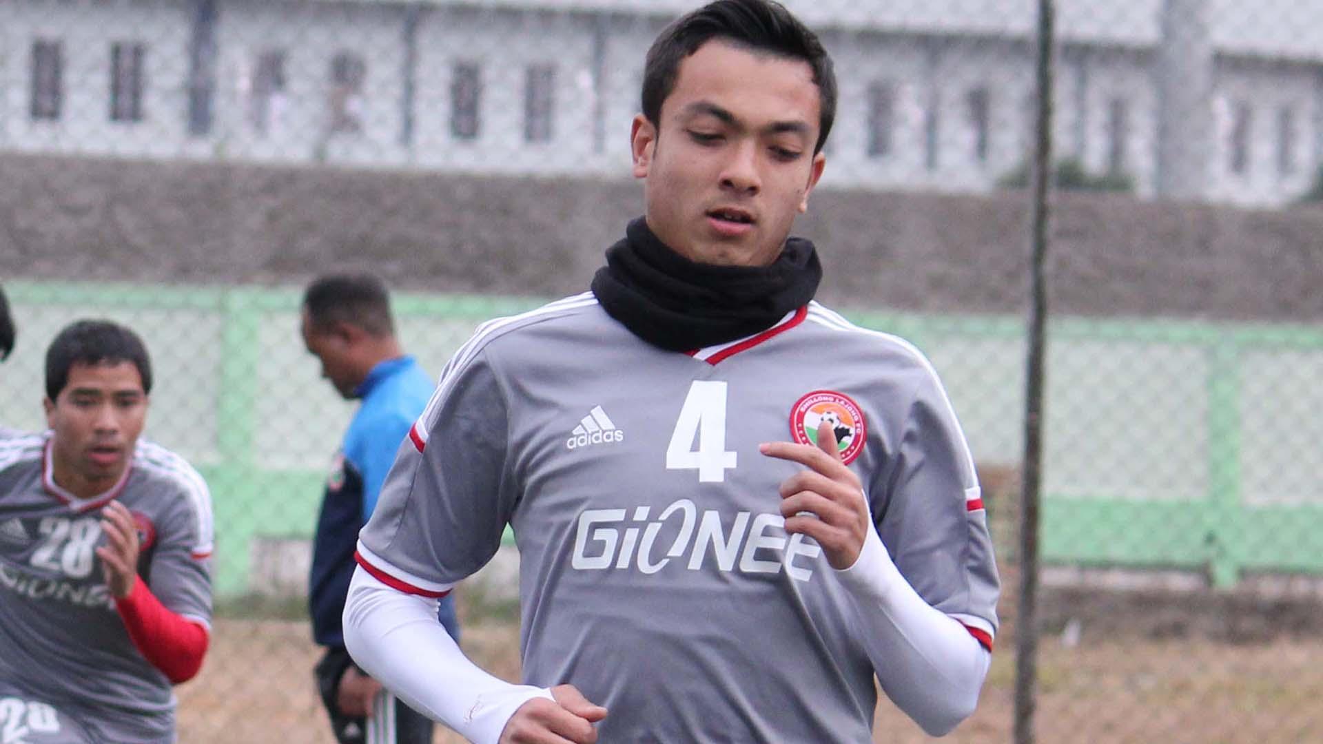 Rupert Nongrum Shillong Lajong FC training session