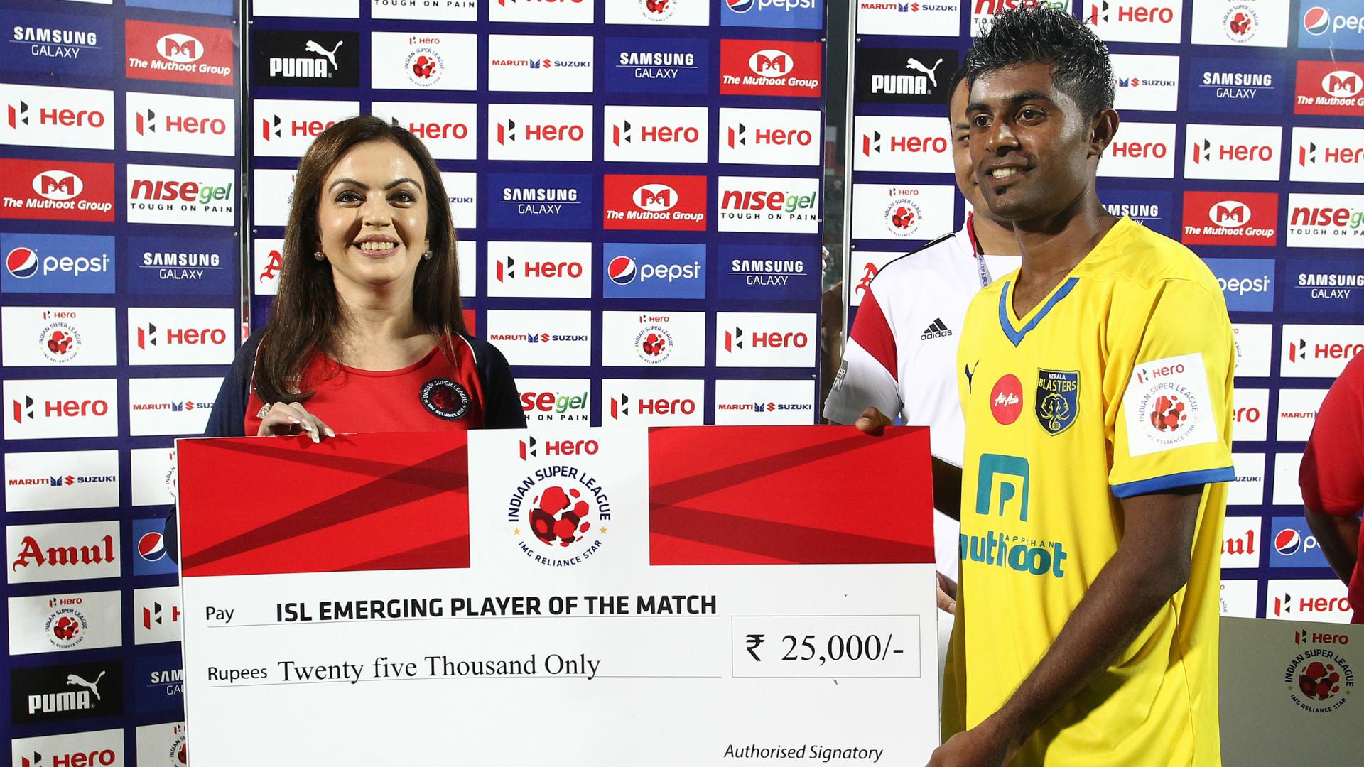 Nita Ambani CS Sabeeth NorthEast United Kerala Blasters ISL