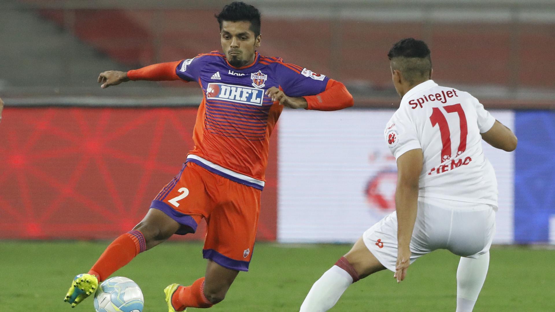 Rahul Bheke Delhi Dynamos FC FC Pune City ISL season 3 2016