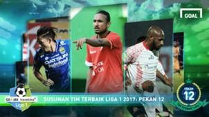 Best XI Liga 1 - Pekan 12