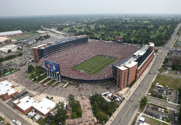 Michigan Stadium Manchester United - Real Madrid 109.318 attendance 02082014