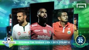 Best XI - Liga 1 - Pekan 32
