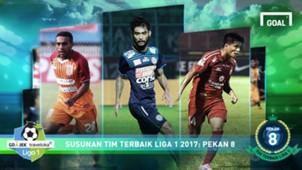 Best XI Liga 1 - Pekan 8