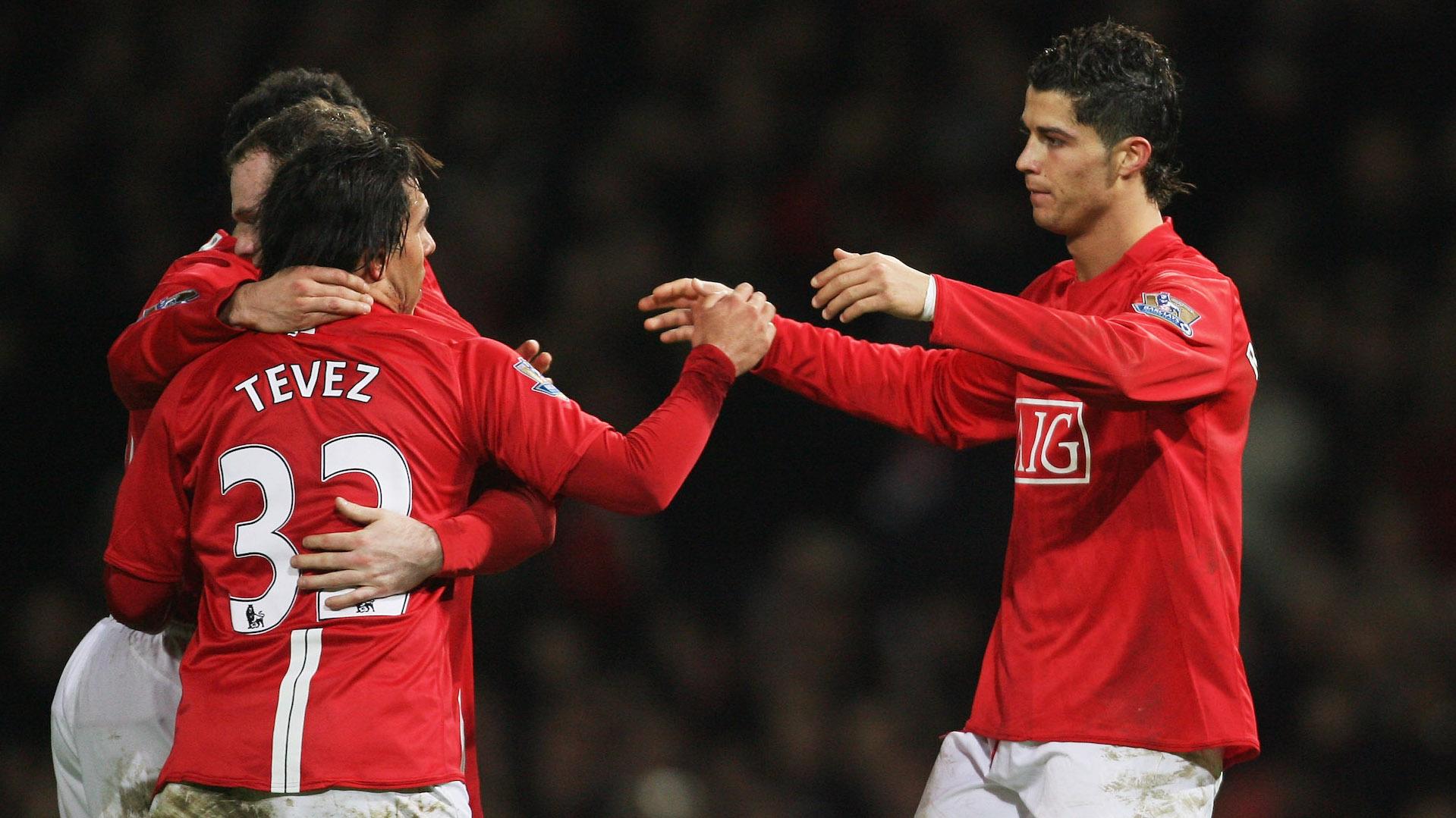 Carlos Tevez and Cristiano Ronaldo