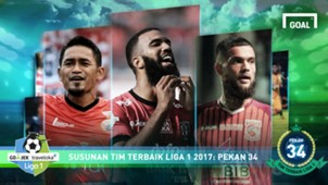 Best XI - Liga 1 - Pekan 34