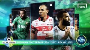 Susunan Tim Terbaik Liga 1 Pekan 14-15 Cover