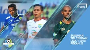 Cover Tim Terbaik Liga 1 Pekan 22