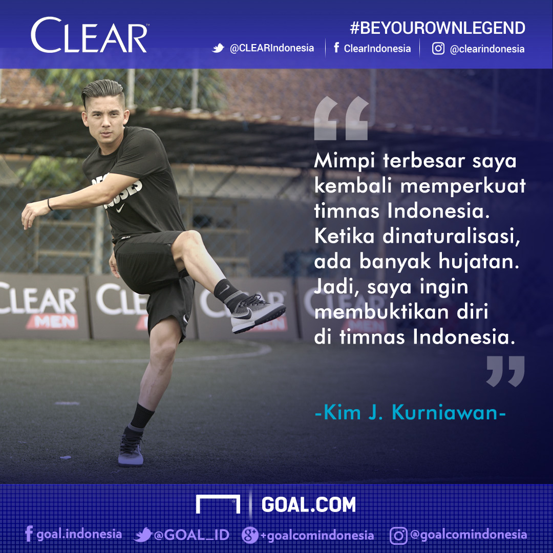 BE YOUR OWN LEGEND: Timnas Indonesia, Mimpi Terbesar Kim Kurniawan  Goal.com