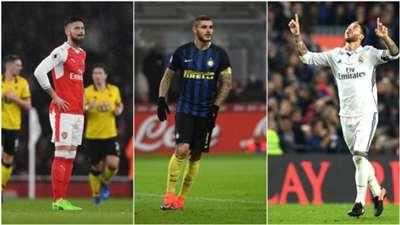 Ramos, Giroud & Top Skor Eropa Gol Tandukan