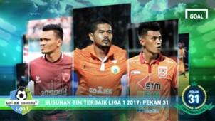 Best XI - Liga 1 - Pekan 31