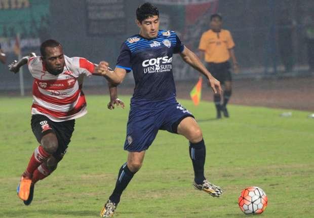 Arema Cronus berharap bisa menjamu Madura United FC di Stadion Gajayana
