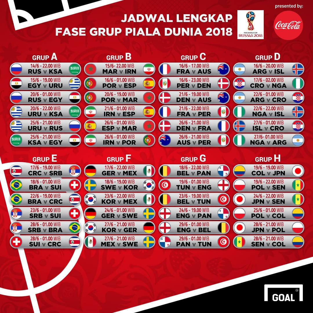 Berikut Jadwal Lengkap Piala Dunia  Catat Pertandingan Yang Melibatkan Tim Favoritmu Dan Jangan Sampai Ketinggalan Serunya Menyaksikan Piala Dunia