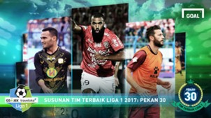 Best XI Liga 1 - Pekan 30