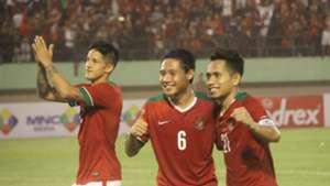 Irfan Bachdim, Evan Dimas, Andik Vermansah - Indonesia vs Malaysia - Friendly Match - 6 September 2016