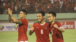 Irfan Bachdim, Evan Dimas, Andik Vermansah - Indonesia vs Malaysia - Friendly Match - 6 September 2016