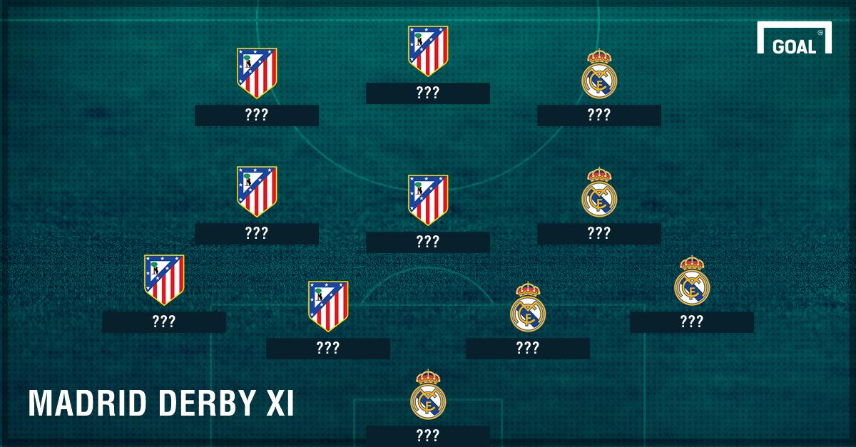 Tanpa Cristiano Ronaldo, Tim Gabungan Atletico Madrid & Real Madrid