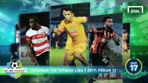 Best XI Liga 1 - Pekan 17