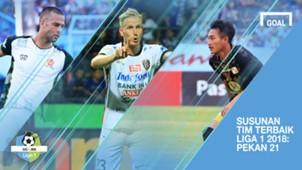 Cover Tim Terbaik Liga 1 2018 Pekan 21
