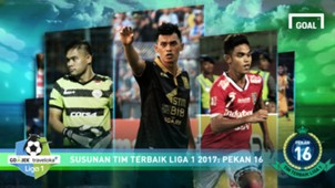 Best XI Liga 1 - Pekan 16